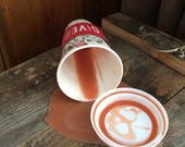 SALE Fake Coffee Spilled Holiday Cup Gag Prank Prop Fun Staging