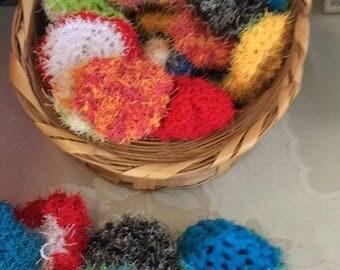 "Scrubbies Random Colors,  2 1/2""-3"" diameter, Facial or Dishcloths  4"""