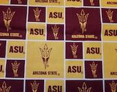 End of Bolt, Custom Cut For Krystal, ASU Fabric, Arizona State, Sun Devils, Maroon and Gold