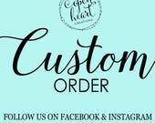 Custom Wall Decal Order for Jennifer
