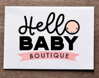 Premade Logo Design Baby Boutique
