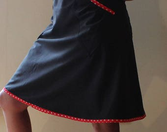 Wrap Skirt (one size fits most small - large) black with pockets