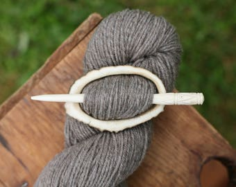 Elk Antler Shawl Pin - Shawl Pin -- Eco Knitting Supplies