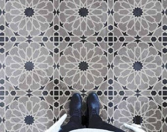 Moroccan Magic Tile Stencil - Easy Way to Improve Wall Decor - DIY Wall Art - Reusable Stencils for Home Makeover