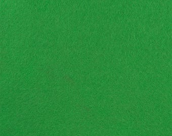 "Apple Green Acrylic Craft Felt by the Yard - 1/16"" Thick, Available Plain (72"" Wide) or with a Peel-and-Stick Adhesive Backing (36"" Wide)"