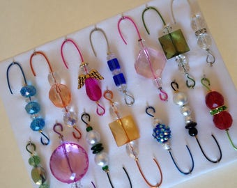 Only One Box Variety*4 - Beaded Ornament Hangers -  FREE SHIPPING
