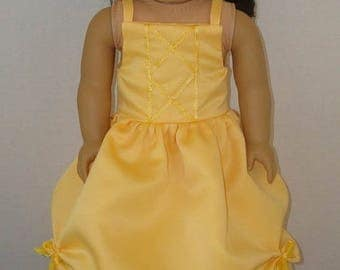 "ON SALE 18 inch Doll Clothes/Beauty And The Beast/Belle/Made to fit 18"" Girl Dolls like American Girl/READY To Ship"