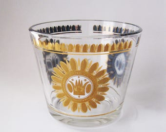 MCM Georges Briard Glass Ice Bucket