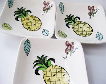 1950's Appetizer plates, Fruity Design, Japan