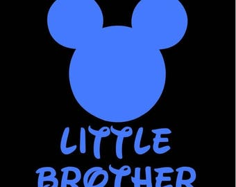 SALE Mickey Mouse Little Brother SVG JPEG instant digital file download for vinyl cutters
