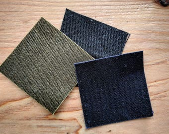 Black Waxed Canvas Fabric by the Yard - 10.10 oz. - Ship Free within the United States