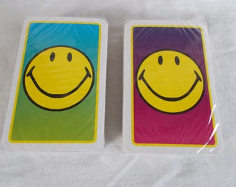 Vintage Smiley Face Playing Cards Lot //10