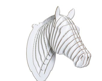 Pippin Cardboard Horse Head - Giant - White