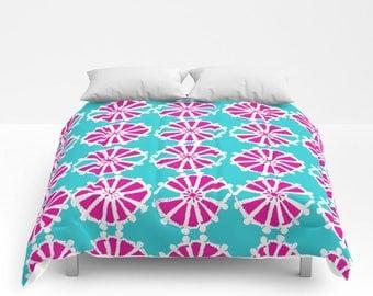 Turquoise Comforter - Twin XL Comforter - Queen Comforter - King Comforter - Full Comforter - Magenta Twin Comforter Twin XL Bedding