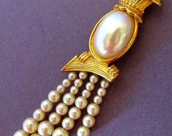 """Vintage Edgar Berebi limited edition """"The Pearls Of The Heavens Pin"""""""