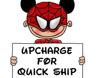 Upcharge for Quick Printing and Shipping