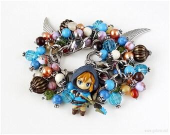 Legend of Zelda Link Charm Bracelet, Gamer Gifts, Geekery, Breath of the Wild