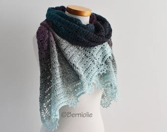 KACELA, Crochet shawl pattern, pdf