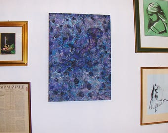 marbled canvas, ready to hang,   tela  marmorizzata -   cm 4 x  50 x cm 70  -    966