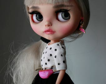 Eline Rabbit - custom Blythe doll - ooak blythe - unique art doll by KarolinFelix