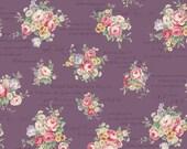 Ruru English Rose Garden  Cotton Fabric Rose ru2310-13e Roses and Script