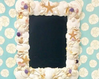 Seashell Mirror - Ready to Ship! beach decor/coastal/nautical/sea shell/seashells/sea shells/beach house