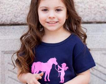 Little Equestrian Nostalgic Graphic Tee SS Crew