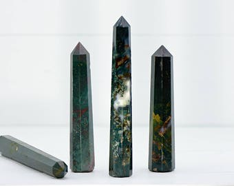 Bloodstone Gemstone Tower - Stone of Spiritual Power