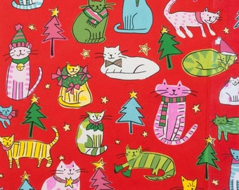 Alexander Henry - Jingle Cats in Red