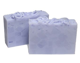 LAVENDER Soap, Homemade and Scented with Therapeutic Essential Oil, Natural Goat Milk Soap, Bar