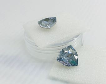 Swarovski 4706 12mm Trillion Triangle Crystal Blue Shade