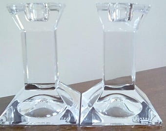 Crystal Candle Holders Sticks Royal Doulton