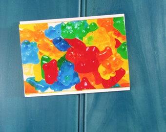 Gummy Bear Lolly Thank You Greeting Card Blank