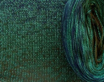 PEACOCK SILK Medley - Color Changing Cotton/Silk yarn - 320 yards/100 gr - Sport Weight