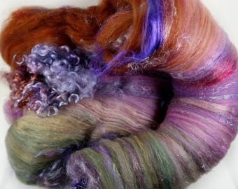 Tapestry Wild Card Bling Batt for spinning and felting (4.2 ounces), batt, art batt