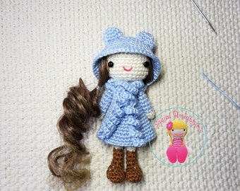 ENGLISH Instructions - Instant Download PDF Crochet Pattern - Curly Girls