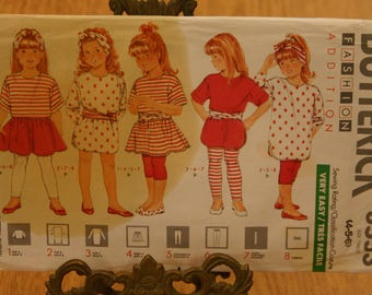 Butterick Pattern 3553 Girls Sizes 4-5-6