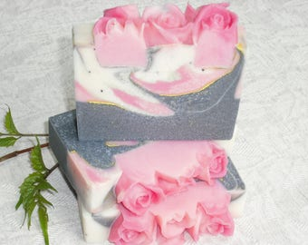 Night Bloom / Activated charcoal / Citrus Floral Scent / Feminine Soap / Cold Process Handmade Soap