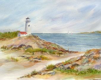 Cape Cod Path Lighthouse Ocean