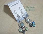RESERVED - Entrance; Glass & Swarovski Crystal Chandelier Earrings