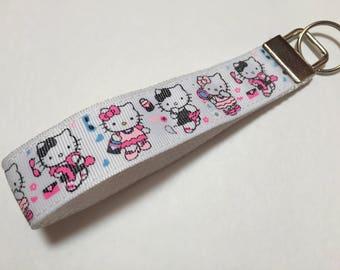 Hello Kitty Key Fob Keychain wristlet