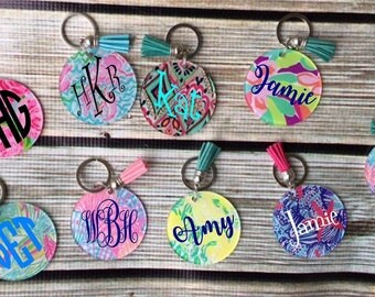 Monogrammed  Key Chain - with your initials