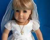 Gift Wrapped Communion Ensemble for  18 inch Doll  Priority Shipped