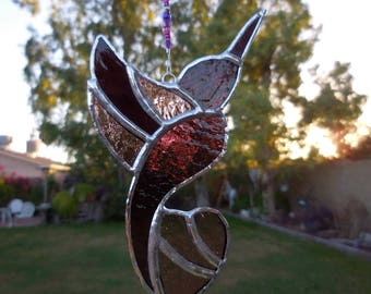 Stained Glass Hummingbird-Handmade-Suncatcher-House Warming-Anniversary-Gift for her or him-Christmas-Birthday-Window Decor-Wedding Gift