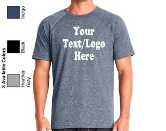 Personalized Next Level - Mock Twist Short Sleeve Raglan Tee - 2050 Custom Made T-Shirt with Vinyl or Glitter Print