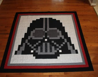 Darth Vader Quilt Handmade Star Wars Blanket