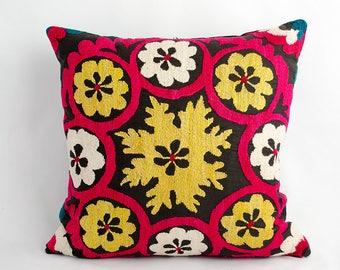 Suzani pillow cover, uzbek suzani, pillow, cushion,