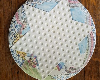 Lovely Ceramic Chinese Checkers Dish dragon Fantasy