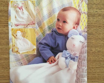 Sewing Pattern ~ Butterick 3231 ~ Infant Baby Blanket - Angel Calf Bear
