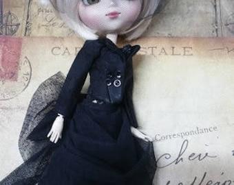 Black Lace Victorian bjd doll pullip